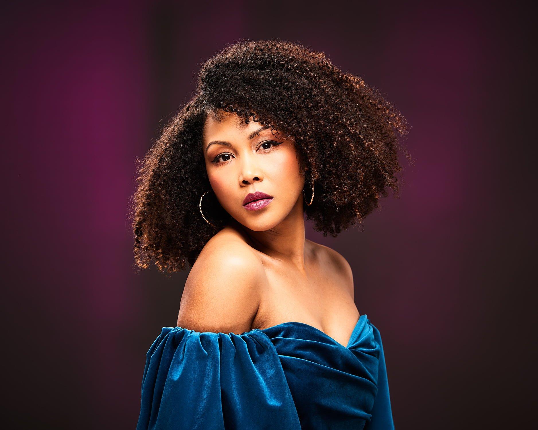 portrait of female singer brighton photographer